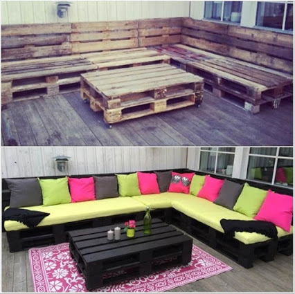 Pallet sofa for outdoo翻新沙发