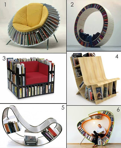 Space Saving Chairs For Bookworms节省空间的椅子