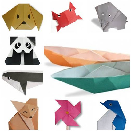 Simple origami instructions that you can make with kids简单的叠纸 你可以和孩子一起玩哦