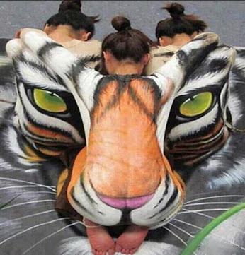 Adorable Human Body Painting Art !可爱的人体绘画艺术!