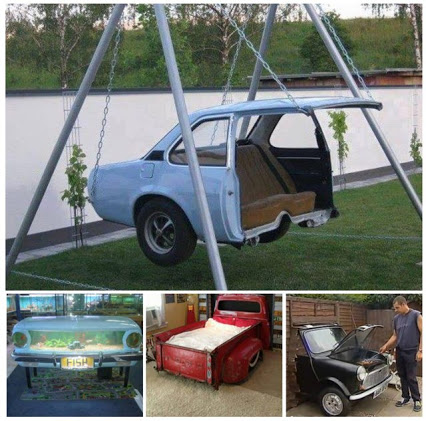 Cars Taken To A Whole New Level ... using car parts in your home and daily life废弃汽车设计
