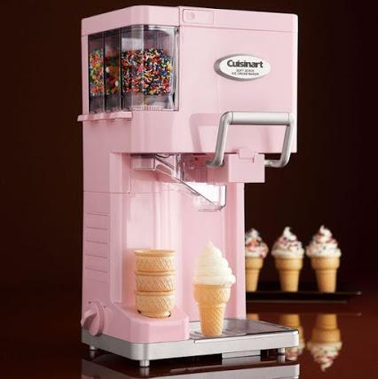 Pink Cuisinart Soft Serve Maker - 软式冰淇淋机