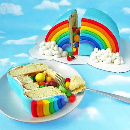 Rainbow Pinata Cake彩虹蛋糕