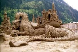 沙滩创意图