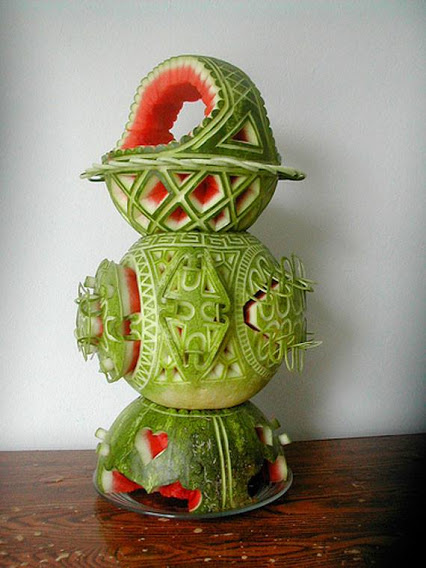 Awesome watermelon art西瓜创意