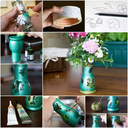 Beautiful Vase Painting Tutorial!美丽的绘画教程
