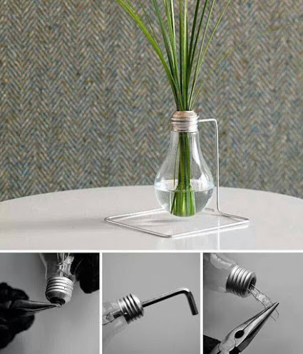 Creative DIY Idea To Reuse Old Bulbs创意DIY理念重用旧灯泡