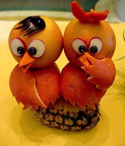 Owl Fruit Art猫头鹰艺术