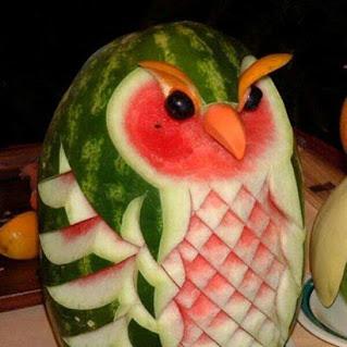 创意西瓜猫头鹰