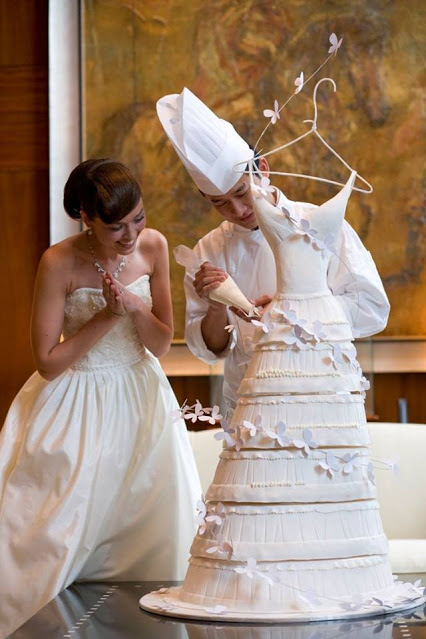 庆祝婚礼蛋糕