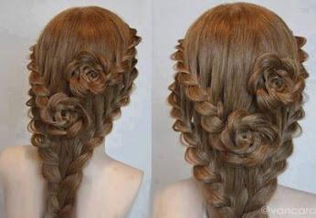 Beautiful Braid style .. 漂亮设计编制发型
