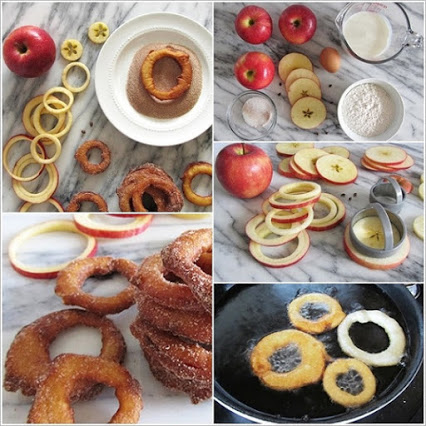 Homemade Cinnamon Apple Rings.创意美味水果盘