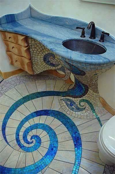 Mosaic sink