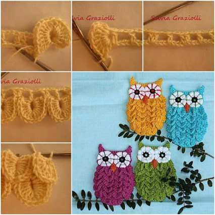 Owl in Crocodile Stitch – Crochet Pattern.