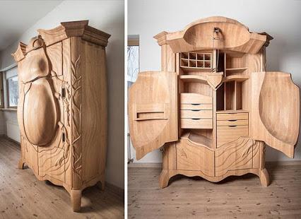 创意木质甲虫柜