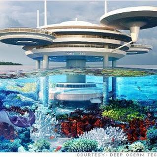 Under water hotel in Dubai......