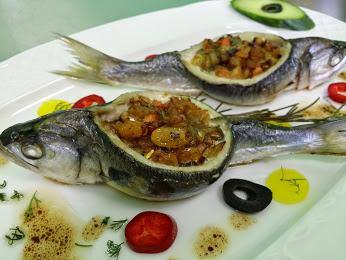 丰富的晚餐鱼