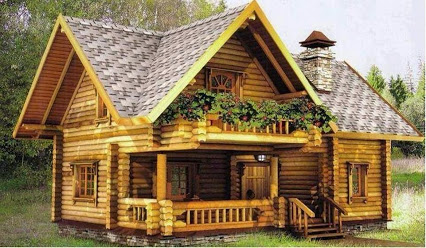 Amazing Log Home...惊人的木屋…