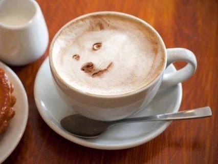 Amazing coffee art. 惊人的咖啡艺术。