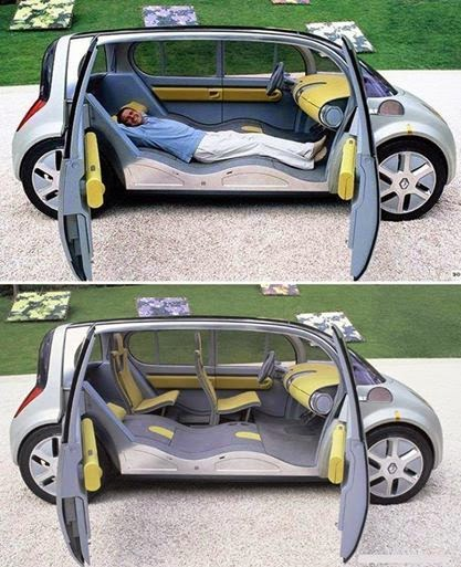 Awesome car design for long road trips!长途旅行汽车设计!
