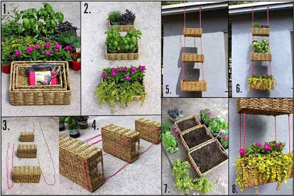 DIY Hanging Plant Holder. DIY挂板。
