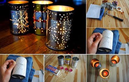 DIY Outdoor Can Lantern. 自己动手做户外灿灯。