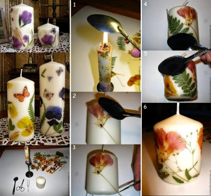Easy To Make Decorated Candles. DIY蜡烛。
