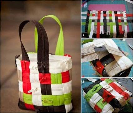 Easy To Make Zipper Bag. 简易制接链袋