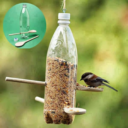 Great idea to feed your little friends. 给你的小动物好去处。