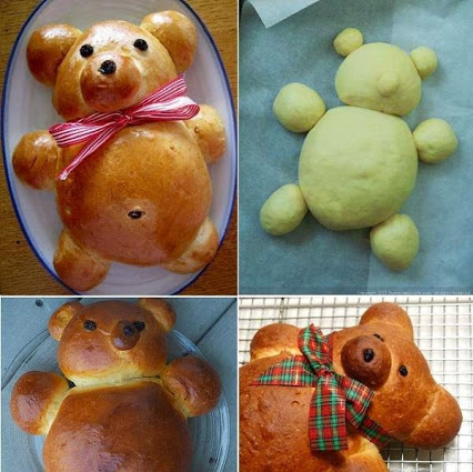 How To Make A Teddy Bear Bread. 如何做一个泰迪熊的面包。