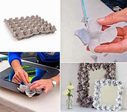 How to reuse egg cartons. 废物利用,蛋箱玫瑰