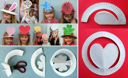 Make Party Hats From Plastic Plates 简易漂亮的帽子装饰