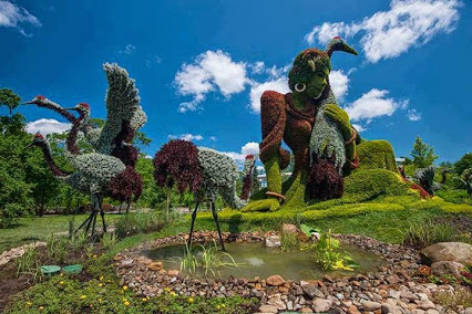 Monumental Plant Sculptures at the 2013 Mosaicultures Internationales de Montréal. 在2013 mosaicultures国际去蒙特利尔é铝植物的纪念雕塑。