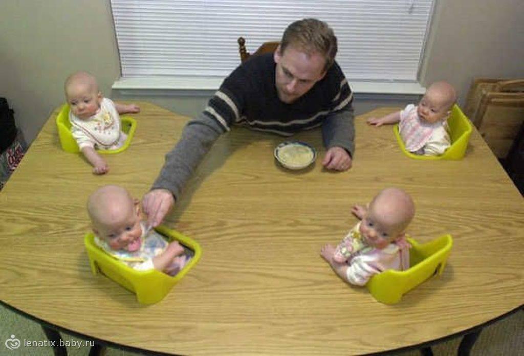 The four babies baby chair super creative 超有创意的四胞胎婴儿椅