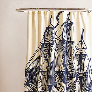Sailing the shower curtain 帆船浴帘