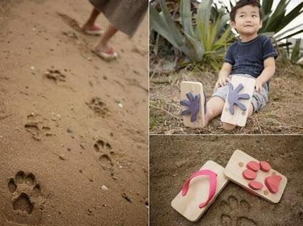 Animal Footprint Sandals 动物足迹的凉鞋