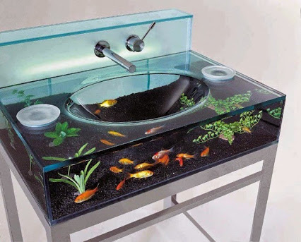 Aquarium Sink - AWESOME DESIGN !!!水族馆设计库-真棒!!!