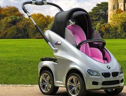 Awesome BMW Stroller.可怕的宝马车。