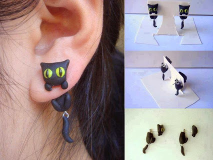 Awesome Cat Earrings! (by KittyAzura)可怕的猫耳环!