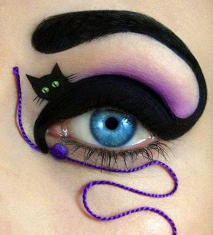 Awesome makeup ...可怕的眼妆…