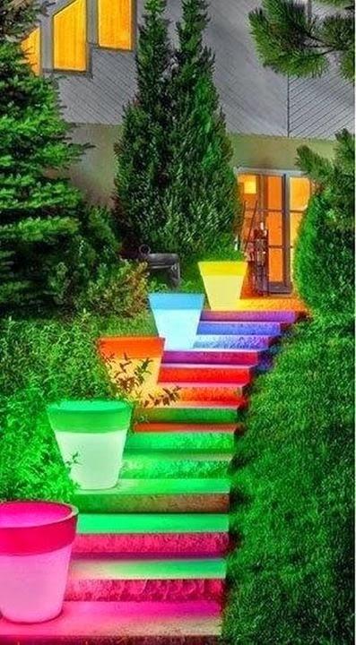 Beautiful stairs!彩虹楼梯!