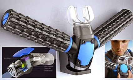 Bond gadget that turns you into a FISH It's the James Bond gadget on everyone's wishlist. The rebreather, a system that lets you breathe underwater !
