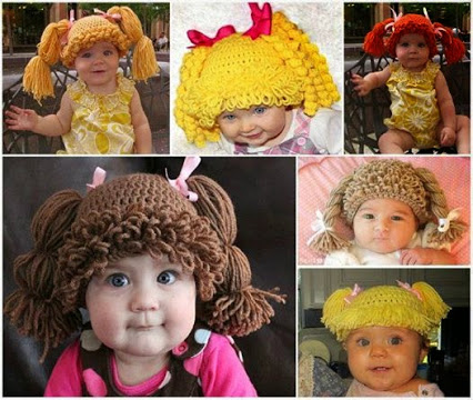 Cabbage Patch Kid Crochet Wigs.