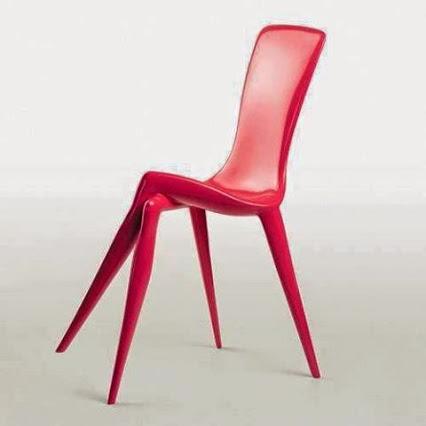 Creative chair design by Vladimir Tessler.超有创意的椅子。