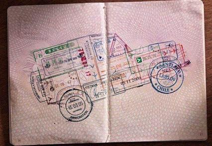 Creativity with Stamps创新,印章盖出的车子