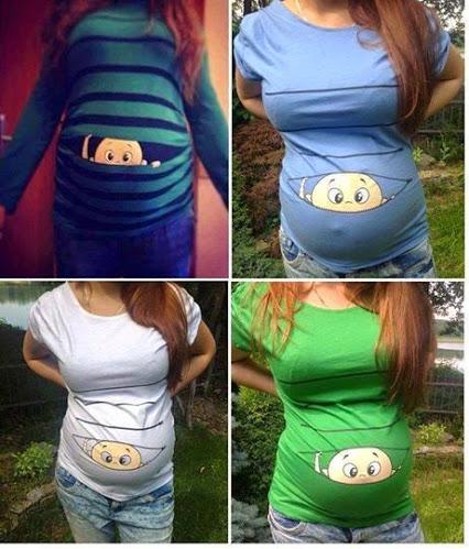 Cute Maternity Tunic.可爱的产妇束腰外衣。