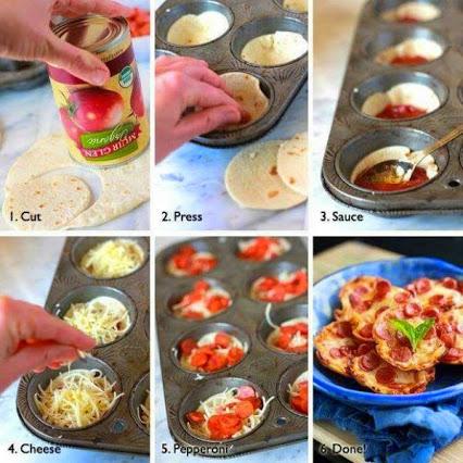 DIY Delicious Mini Pizza's DIY迷你比萨的美味