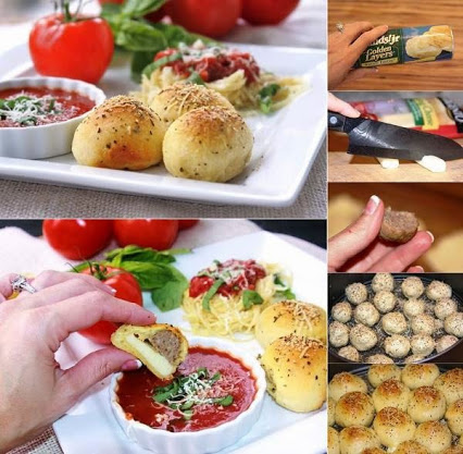 DIY Easy To Make Meatball Stuffed Buns.DIY容易做的丸子包子。