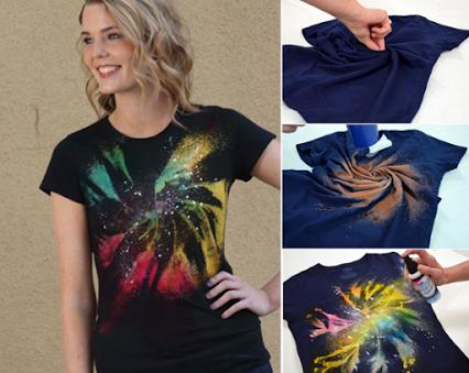 DIY Galaxy Twist Bleach.DIY星系扭曲的漂白剂。