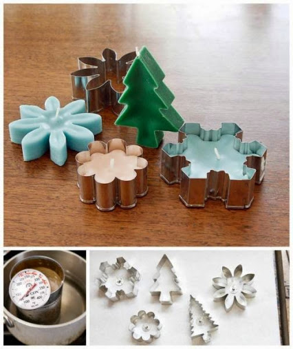 DIY Home Projects – Candles Using Cookie-Cutters.DIY家居项目–曲奇型蜡烛。